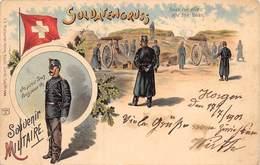 Armée Suisse. SOLDAT EN GRUSS Souvenir Militaire - Uniformes