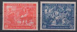 Leipziger Messe 1949 SBZ 230/31 **, Italiener Pietro Und Lorenzo Saliti Aus Pisa In Leipzig - Sowjetische Zone (SBZ)