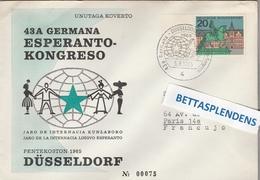 LSC 1965  - ESPERANTO -  ALLEMAGNE - Congrès D'ESPERANTO à DUSSELDORF - Esperanto