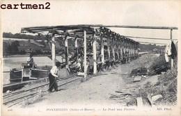 PONTHIERRY LE PONT AUX PIERRES PENICHE WAGON METIER BATELLERIE BATELIER 77 SEINE-ET-MARNE - France