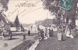 CPA 36 @ ECUEILLE - La Rue Du Champ De Foire En 1909 @ Edition Launay N° 1 - France