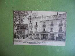 CPA AVON FONTAINEBLEAU HOTEL DE LA FORET ET GARE CLICHE ESPARCIEUX  NEUVE SUPERBE - Avon