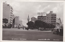 CARTOLINA - BRASILE - SAO' PAULO - AVENIDA SAO' JOA'O - São Paulo