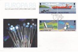 Isle Of Man 1988 FDC Europa CEPT (LAR6-39) - Europa-CEPT