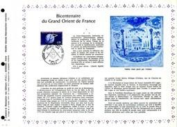 Rare Feuillet PAC (Précurseur CEF) De 1973 N°321, 73-14. Bicentenaire Du GRAND ORIENT DE France Franc Maçonnerie - FDC