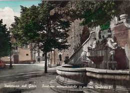PETTORANO SUL GIZIO-L'AQUILA-FONTANA MONUMENTALE E P.ZZA UMBERTO I-CARTOLINA VIAGGIATA IL 13-6-1969 - L'Aquila