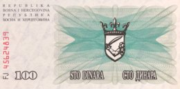 Bosnia 100 Dinara, P-13 (1.7.1992) - UNC - Bosnien-Herzegowina