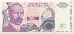 Bosnia 100.000 Dinara, P-151 (1993) - UNC - New Pick Number: 154 - Bosnien-Herzegowina