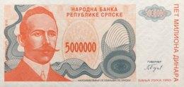Bosnia 5 Million Dinara, P-153 (1993) - UNC - New Pick Number: 156 - Bosnien-Herzegowina