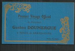 Gard. Carnet De 12 CPA Du 1er Voyage Officiel Du Président Gaston Doumergue à Nîmes Et Aigues Vives - Other Municipalities