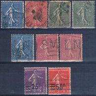 Francia 1924 / 32  -  Yvert 129 + 130 + 202 + 205 + 218 + 225  ( Usados ) - France