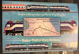 Azerbaijan, 2012, Mi: Block 121 (MNH) - Eisenbahnen