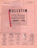 17- LA ROCHELLE- RARE BULLETIN UNION REGIONALE SYNDICATS NEGOCIANTS PRODUITS SOL ENGRAIS CHARENTES POITOU-AOUTT 1951- - Documenti Storici