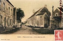 SOLERS CARTE TOILEE PLACE DE LA CROIX 1576 77 SEINE-ET-MARNE - Frankrijk