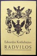 Lithuanian Book / Radvilos / 1995 - Livres, BD, Revues
