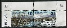 """BOSNIA CROATA/ BOSNIA KROATISCHE POST MOSTAR - EUROPA 2018  - """"PUENTES.- BRIDGES - BRÜCKEN - PONTS"""" - SERIE 1 V./ A - 2018"""