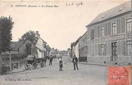 80 . N° 100324 . Contay . La Grande Rue - Conty