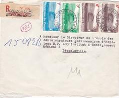 ENVELOPPE REPUBLIQUE DU CONGO CIRCULEE LEOPOLDVILLE AN 1965 3 COLEUR TIMBRE RECOMMANDE - BLEUP - République Démocratique Du Congo (1964-71)