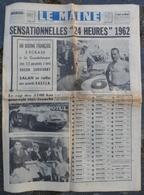 24 Heures Du Mans 1962.Guadeloupe Un Boeing S'écrase.Voiture Heineken.Charles Trenet.Bessé Sur Braye. - 1950 à Nos Jours