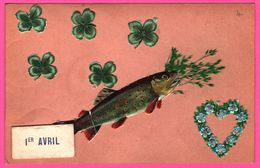 Fantaisie - 1er Avril - Ajoutis - Découpis - Poisson - Trèfles à 4 Feuilles - Coeur - 1er Avril - Poisson D'avril