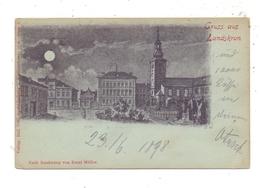 BÖHMEN & MÄHREN - LANDSKRON / LANDKROUN, Mondschein-Karte Nach Zeichnung Von Ernst Müller - Boehmen Und Maehren