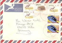 Afrique Du Sud 2002 - Lettre Par Avion/ By Air Mail De Douglasdale à Cologne/Köln - Affranchissement Composé - Afrique Du Sud (1961-...)