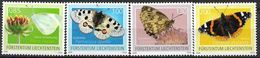 2009 Liechtenstein  Mi.  1528-31**MNH Schmetterlinge - Ongebruikt