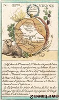 BELLE GRAVURE XIXeme DEPARTMENT DE LA HAUTE-VIENNE BELLAC LIMOGES CHALAIS MAGNAC ST-LEONARD DORAT ST-JUNIEN 13 X 8 CM - Francia