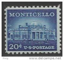 1956 Liberty Series 20 Cents Monticello, Mint Never Hinged - Stati Uniti