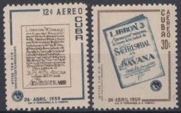 """1959.98 CUBA 1959 Ed.781-82. DIA DEL SELLO, STAMPS DAY """"LIBRONES"""" MH. - Gil Saint André"""