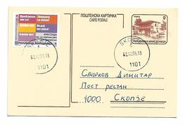 Red Cross For AIDS HIV 2006 Send And Return Post Card R (1) - Macedonia