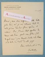 L.A.S Pierre Girauld De NOLHAC évoque Pierre De RONSARD - Historien Poète Né Ambert - Lettre Autographe Jacquemart-André - Autographes