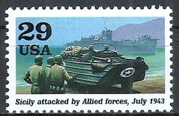 1993 Etats Unis USA United States MNH *** Military World War II Tanks Operation Husky Allied Invasion Of Sicily In Italy - WW2