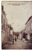 Cpa Sault De Navailles  Rue Marcadieu - Autres Communes