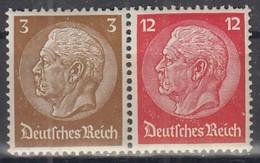 DR W 80, Postfrisch **,  Hindenburg 1939 - Se-Tenant