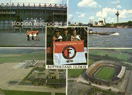 Netherlands, ROTTERDAM, Stadion Feyenoord Multiview (1970s) Stadium Postcard - Fussball