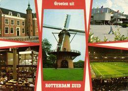 Netherlands, ROTTERDAM, Multiview Stadion Feyenoord (1970s) Stadium Postcard - Voetbal