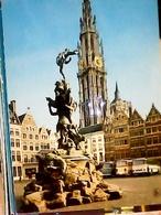 BELGIO ANTWERPEN MARKET SQUARE BELGIUM CARS BUS AUTOBUS N1965 HA8107 - Antwerpen