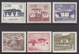 1984 Bhutan Monasteries Architecture  Complete Set Of 6 MNH - Bhutan