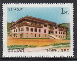 1990 Bhutan GPO Post Office Architecture Complete Set Of 1 MNH - Bhutan
