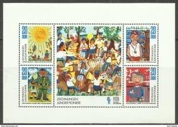 """DDR 1991-1994 Klbg.""""Zeichnungen Junger Pioniere"""" Postfrisch Mi.-Preis 2,00 - Blocchi"""