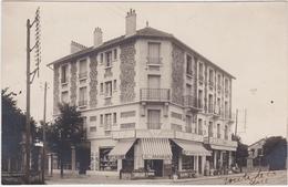 Carte Photo à Identifier épicerie G Morin Route De La Gare - Postcards