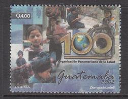 2002 Guatemala Pan American Health Organisation Complete Set Of 1 MNH - Guatemala