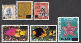 1976 Haiti Definitives OVERPRINTS 6 Stamps MNH - Haïti