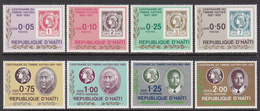 1984 Haiti Stamps On Stamps Complete Set Of 8 Stamps MNH - Haiti