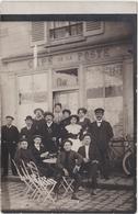 Carte Photo à Identifier Café De La Poste. Propriétaire A Gazou Ou Gazau ? - Postcards