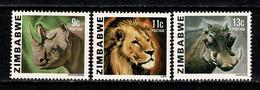 Zimbabwe 1980 Mi 232/34**, SG 581/83**  MNH - Zimbabwe (1980-...)
