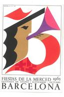 Pubblicità  Fiestas De La Merced 1965 Barcelona Condizioni Come Da Scansione - Reclame