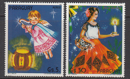 1984 1985 Paraguay Chritmas Navidad Noel 2 Stamps (Much Cheaper Than Buying Whole Set!!  MNH - Paraguay