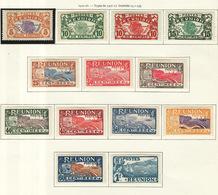 Réunion 1922-26 Y&T N°84 à 96 - Michel N°(?) * - Carte Et Vue De L'île - Neufs